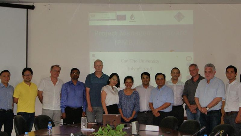 Project Management Board (PMB) meeting at 6 months, Can Tho University, Can Tho, Vietnam, 11th July 2018 (WP8)
