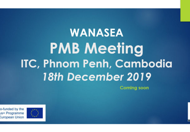 Project Management Board Meeting at 24<sup>th</sup> month, 18<sup>th</sup> Dec 2019, ITC, Phnom Penh, Cambodia (WP8)