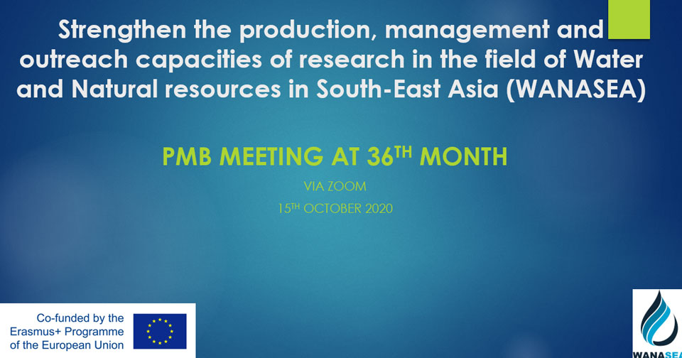 Project Management Board Meeting at 36th month on 15th October 2020 via Zoom (WP8)